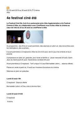 4e festival ciné été