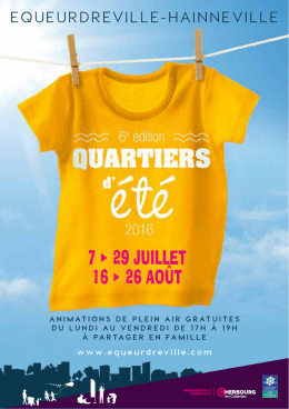 Quartiers d`été 2016 - Ville d`Equeurdreville