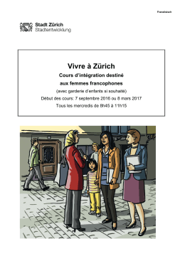 Vivre à Zürich