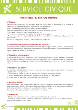 service civique - Chaumont HABITAT