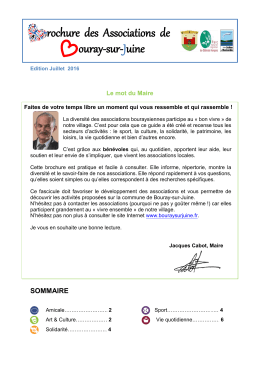 Guide des Associations - Bouray-sur