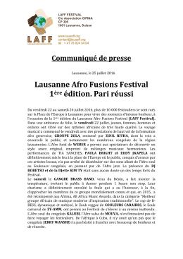 Télécharger le fichier - Lausanne Afro Fusions Festival