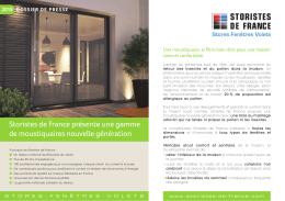 Storistes de France présente une gamme de moustiquaires nouvelle