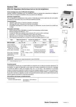 46.886/1 flexotron® 2000 Sauter Components ERA 610: Régulateur