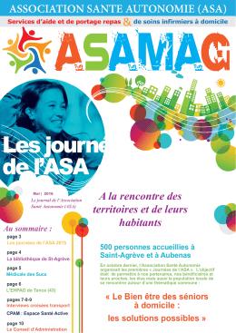Les journées de l`ASA - Association Santé Autonomie
