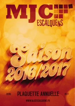 Plaquette des Activités MJC Escalquens Saison 2016/2017