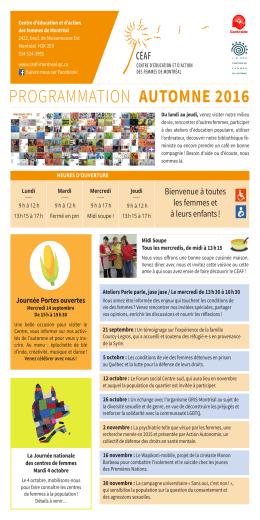en format PDF - Montréal - Centre d`éducation et d`action des