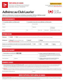 Adhérez au Club Laurier - Liberal Party of Canada