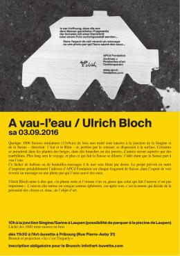 A vau-l`eau / Ulrich Bloch