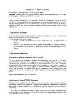 Table ronde 1 : Préserver les sols - Parcsinfo Seine-Saint
