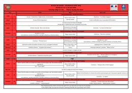 Planning ACM (6-12 ans) - Groupe des 6-7 ans - Août 2016