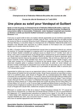 La Course de Côte de Grandcourt