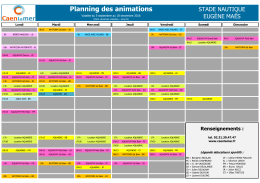 22-07-2016 Planning des animations du stade
