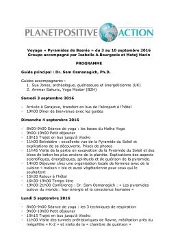 Voyage « Pyramides de Bosnie » du 3 au 10 septembre 2016