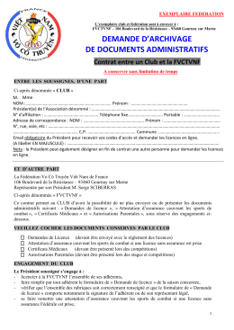 DEMANDE D`ARCHIVAGE DE DOCUMENTS ADMINISTRATIFS