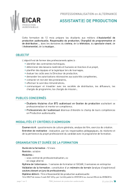 assistant(e) de production