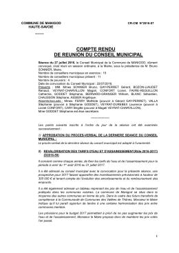 CRCM 2016-07 - Mairie de Manigod