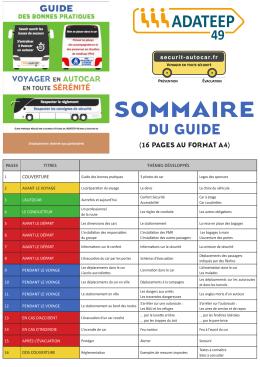 sommaire - securit autocar