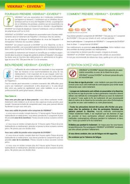 viekirax ® - exviera - Actions Traitements