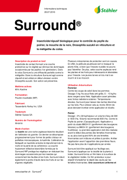 Surround - Stähler Suisse SA