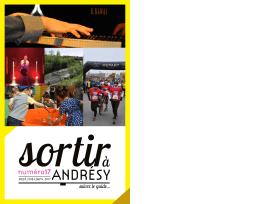 Sortir à Andrésy de septembre 2016 à janvier 2017
