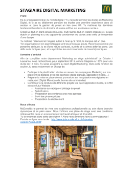 stagiaire digital marketing - HES-SO