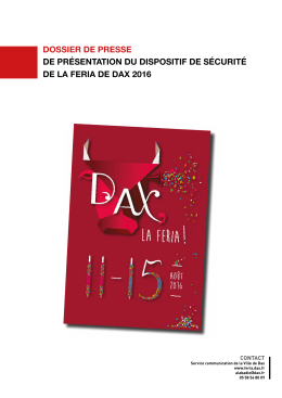 dossier de presse SECURITE 2016 - Feria de Dax