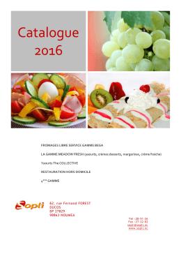 Télechargez notre catalogue produits laitiers 2016