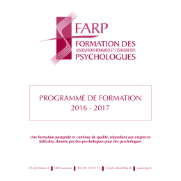 cf. document ci-joint. - Association Vaudoise des Psychologues