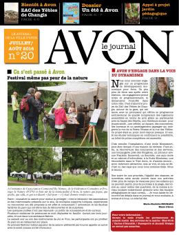 le journal - Site officiel de la ville d`Avon