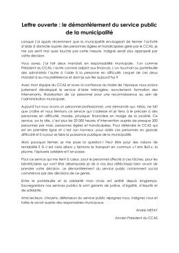 la lettre d`André METAY