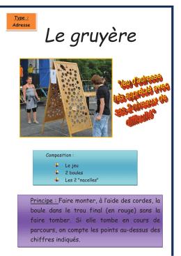 Le gruyère - 7 en bois