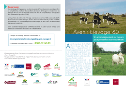 Avenir Elevage 80 - Chambre d`agriculture de la Somme