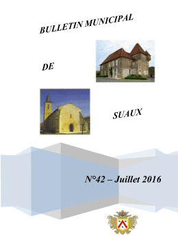 Bulletin municipal n°42 (juillet 2016)