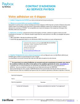 Contrat d`adhésion Paybox by Verifone