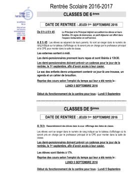 Programme - Collège Font de Fillol
