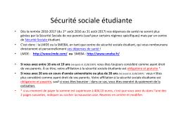 Couverture sociale étudiante - Université de Rennes 1
