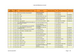 Liste des Médecines du travail Code URSSAF Code SST Libellé