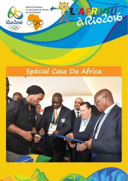 L`Afrique à Rio 2016 numéro spécial Casa Da Africa