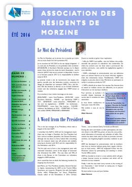 été 2016 - Association des Résidents de Morzine
