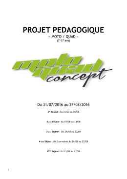 Projet pédagogique août 2016
