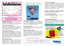 Mensuel Juillet 2016 - solidaires sopra