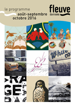 le programme août-septembre octobre 2016