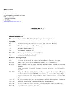curriculum vitae - Université Paris 1 Panthéon