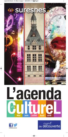 Agenda culturel n°13 - de mai à août 2016