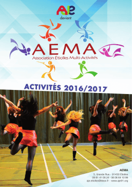 Brochure AEMA 2016/2017 - L`Association Jeunesse d`Etiolles
