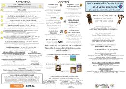 Programme des animations du 23 au 29 juillet