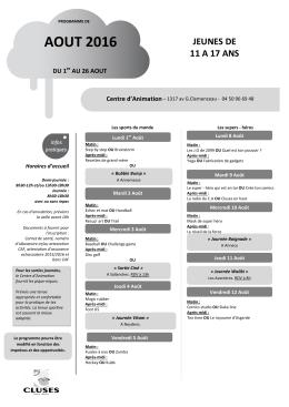 prog aout - Cluses.fr