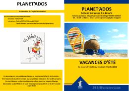 planet`ados planet`ados vacances d`été