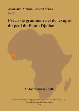 Précis de grammaire et de lexique du peul du Fouta Djallon